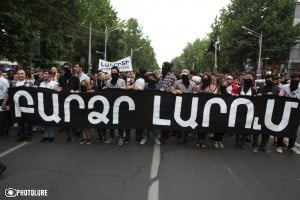 A protest march against energy price increase took place