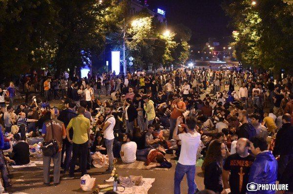 This is the 4th day of protest actions in Yerevan against electricity price increase